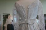 Exhibit, wedding dresses, 81 button back dressclose-up