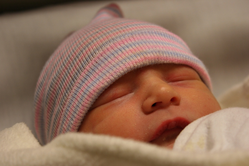 "My new granddaughter, Isabelle (""Izzy"" for short) Karis. Photographed when she was about 17 hours old."