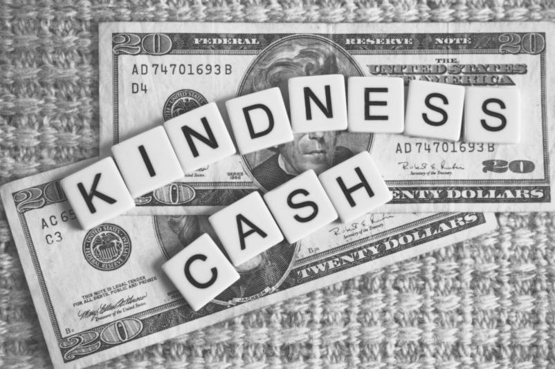 My creative graphic illustrating Kindness Cash.