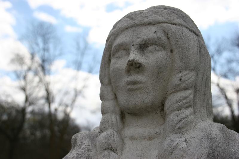 The Princess Owatonna statue up close.