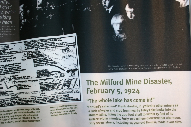 I knew nothing of the flooding at the Milford Mine until I read this panel.
