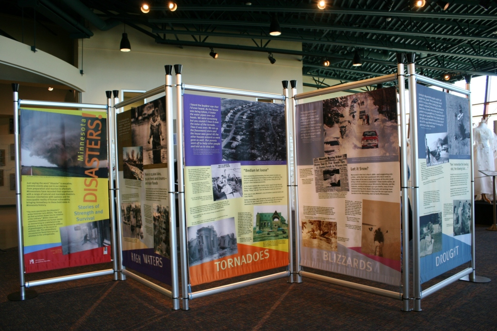 More panels in the Minnesota Disasters exhibit.