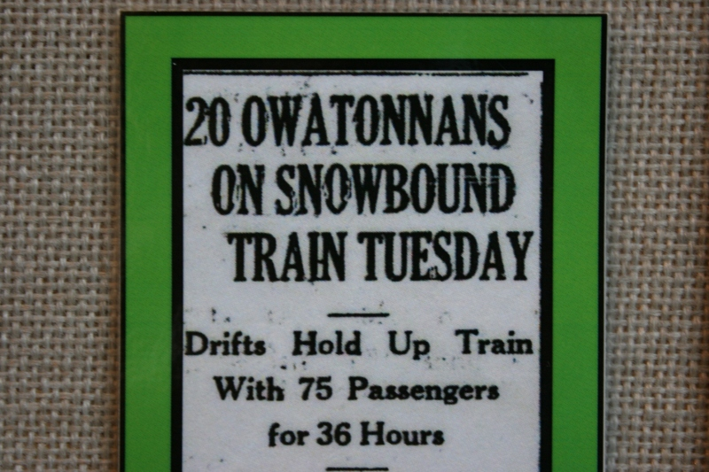 Snowdrifts blocked a train as noted in this news clip.