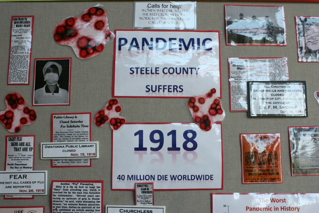 Steele County disasters, 107 pandemic display