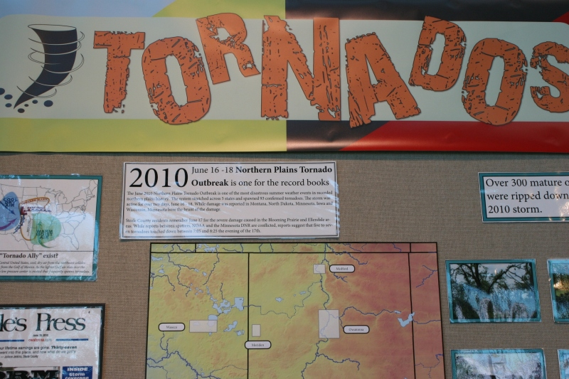 Information on tornadoes in Steele County.