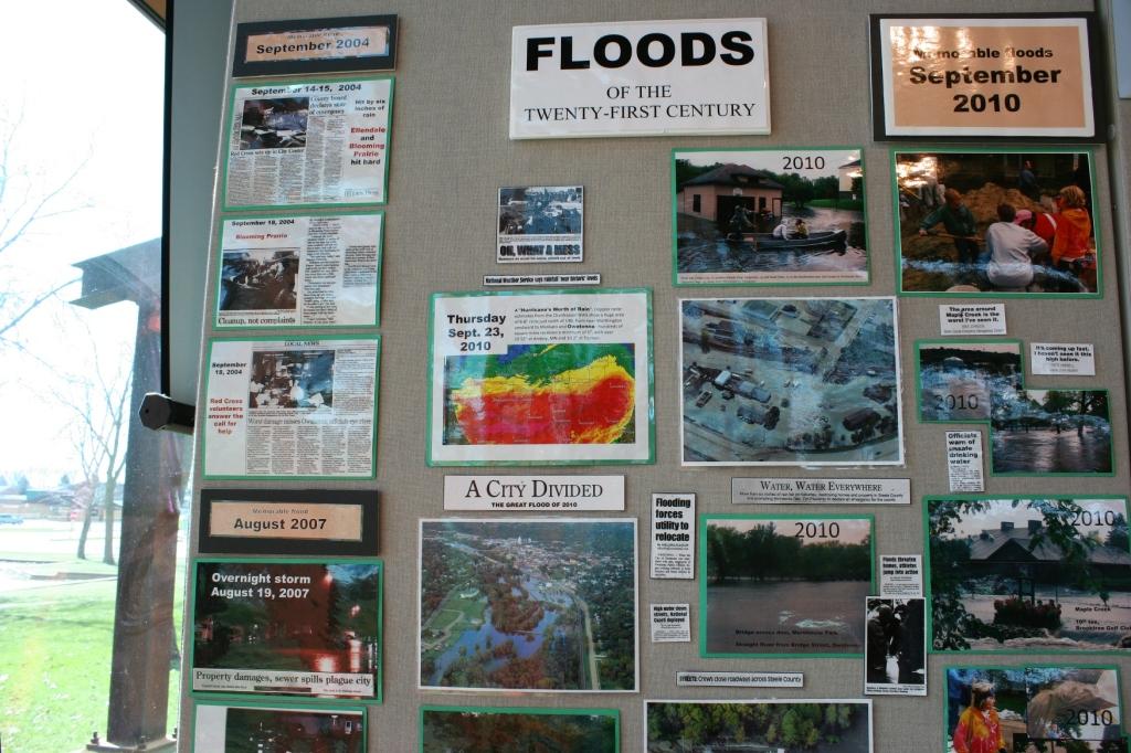 Steele County has experienced plenty of floods.