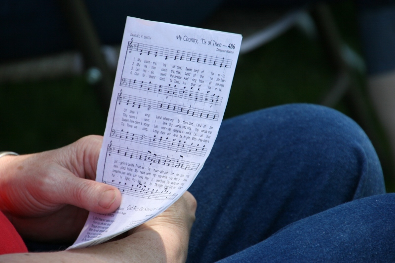 Song sheets were distributed to those in attendance and then collected to save for next year.