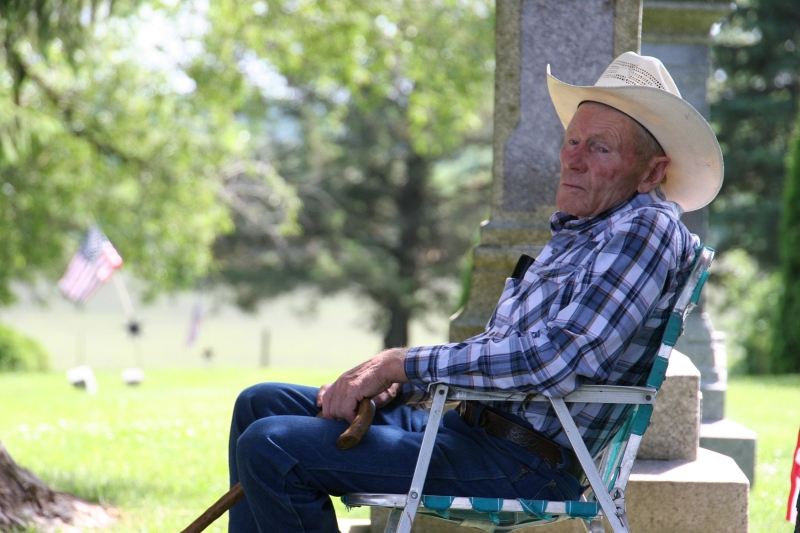 Cannon City native Bob Lewis is a fixture at the annual Memorial Day program. Locals are already tapping his historical knowledge in preparation for the 150th anniversary celebration.