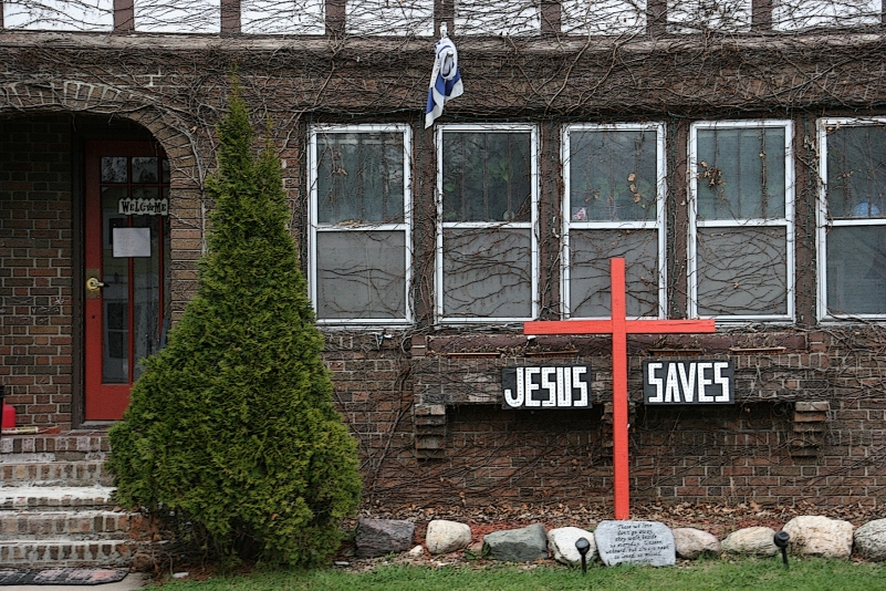 Jesus saves house in Owatonna