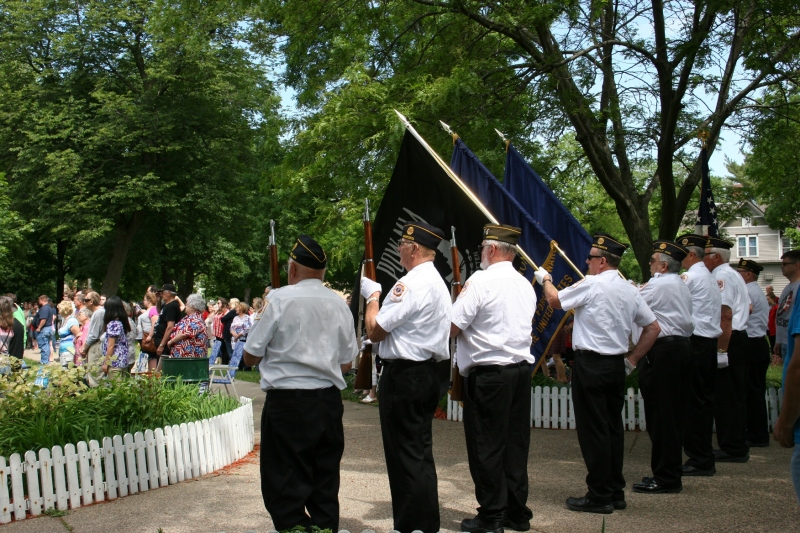The honor/color guard.