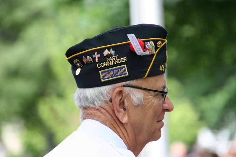 A member of the honor guard.