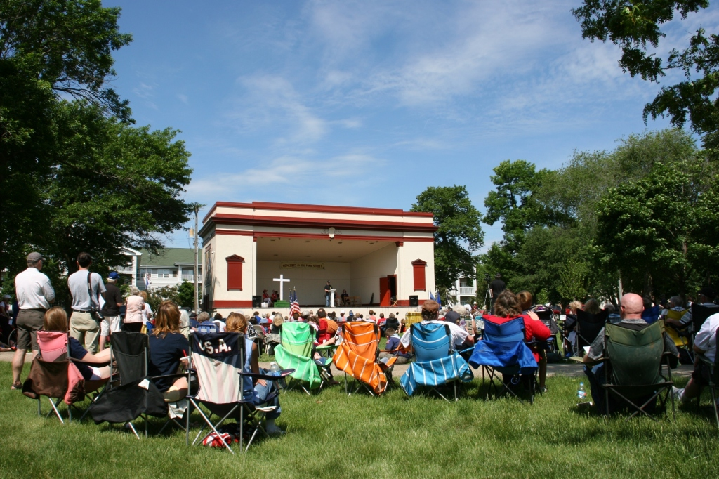 A sizable crowd gathered Monday morning in Faribault's Central Park for the annual Memorial Day program.