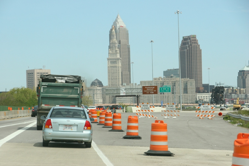 Driving around Cleveland was no fun with all of the road construction.
