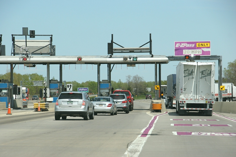 So many toll booths, although purchasing an EZ Pass transmitter in advance