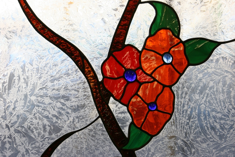 I loved this stained glass art on display.