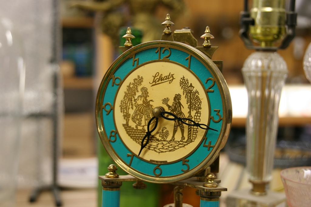 I also spotted some gorgeous tabletop clocks.