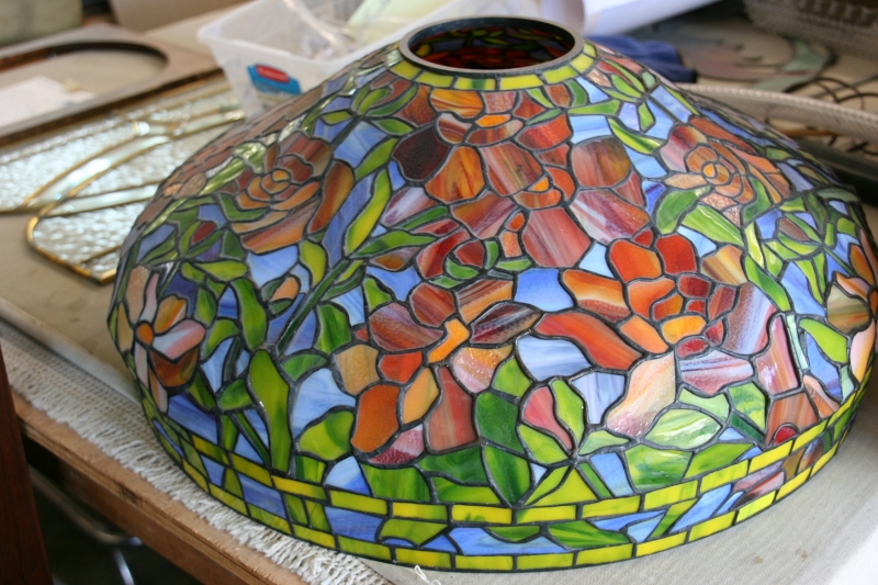 More beautiful stained glass, spotted on a table in the workshop.