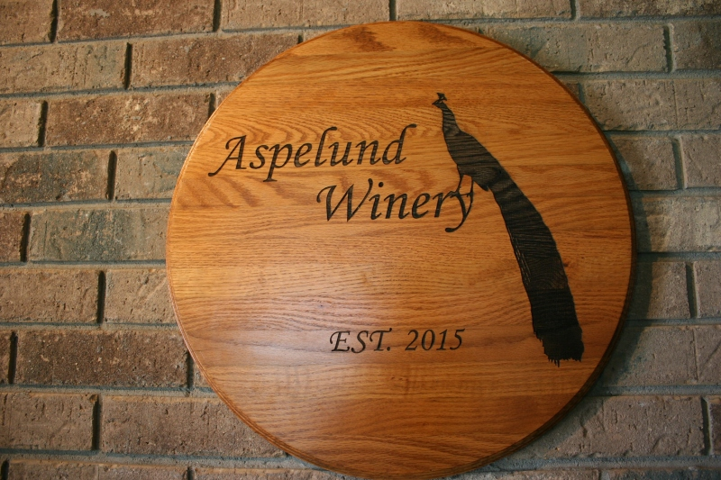 The memorable symbol of Aspelund Winery.