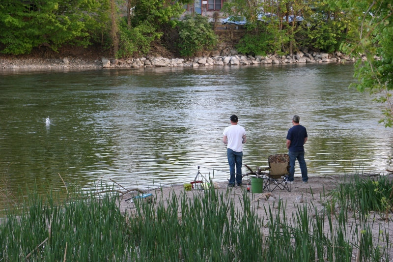 Fishing the Seneca River on a Friday evening late May.