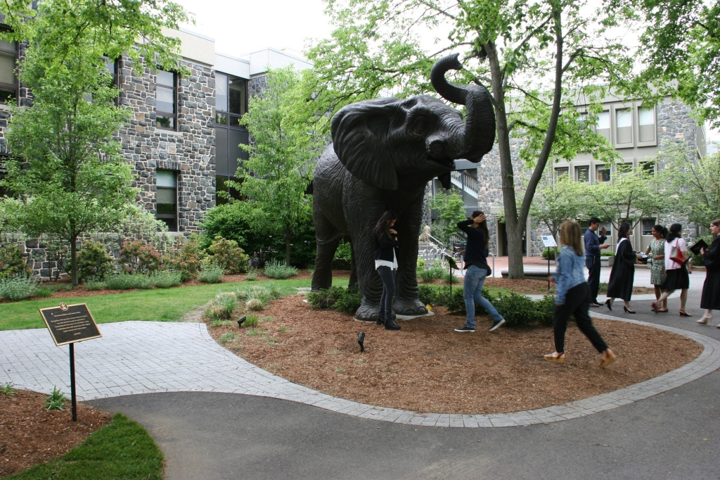 This new Jumbo sculpture was recently installed on campus.