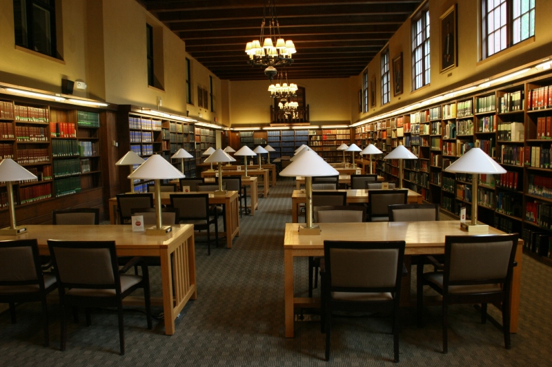 I adore the reading room in the Edwin Ginn Library at The Fletcher School.