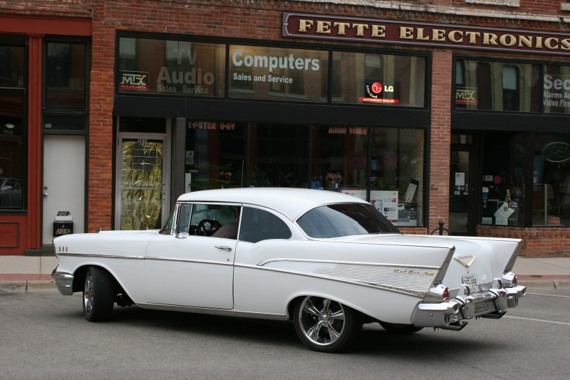 A graceful looking Bel Air Chevy.