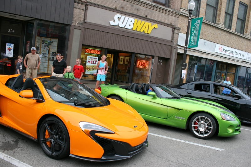 These snappy sports cars drew lots of admirers, including...