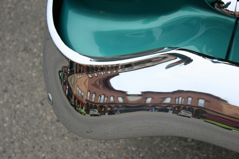 I always admire the shiny bumpers and the reflections therein.