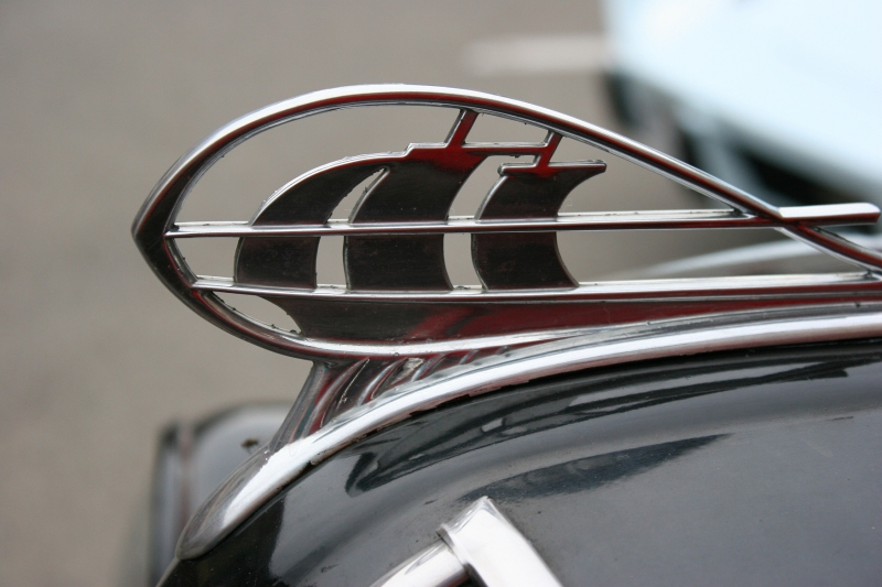 So graceful, these sailing ships, a hood ornament on a Plymouth.