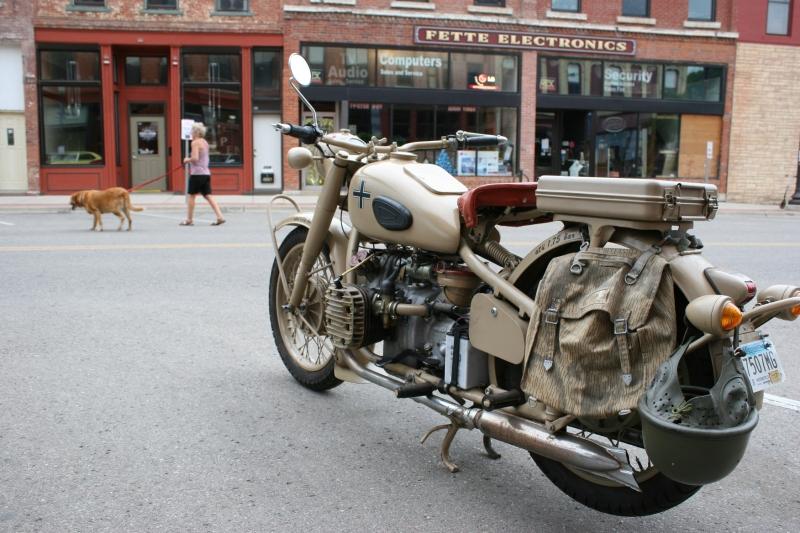 Probably the most unsual vehicle on display: the German Luftschutz motorcycle. I need to hear the story behind this.
