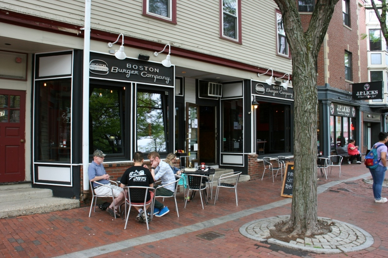 On a beautiful late May afternoon, we chose to dine outside The Boston Burger Company.
