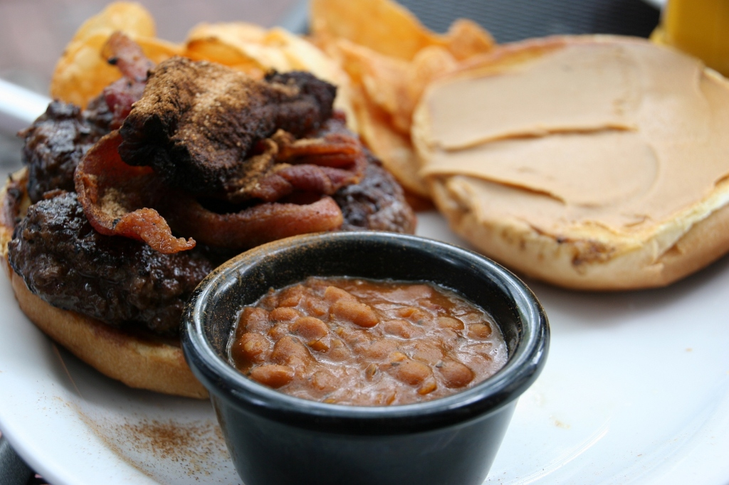 My son let me sample his King burger. I loved it. And the beans were great, too. Authentic Boston baked perhaps?