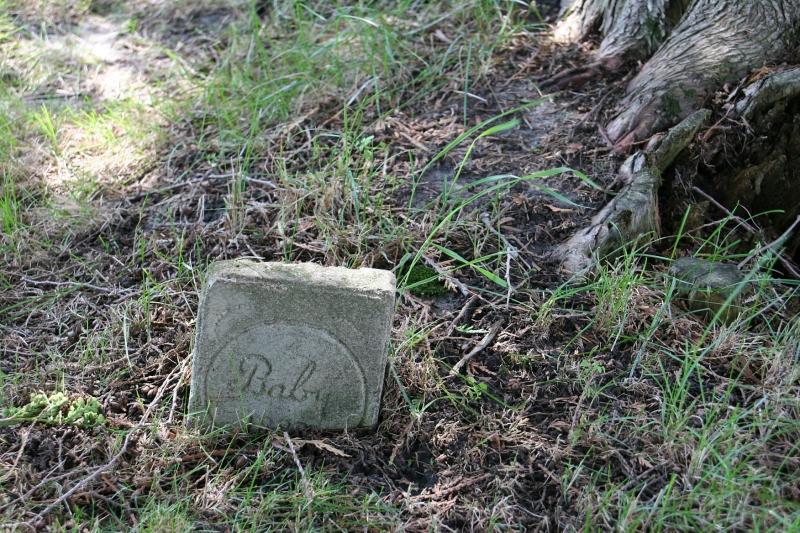Emmanuel Cemetery, Aspelund 169 baby grave marker
