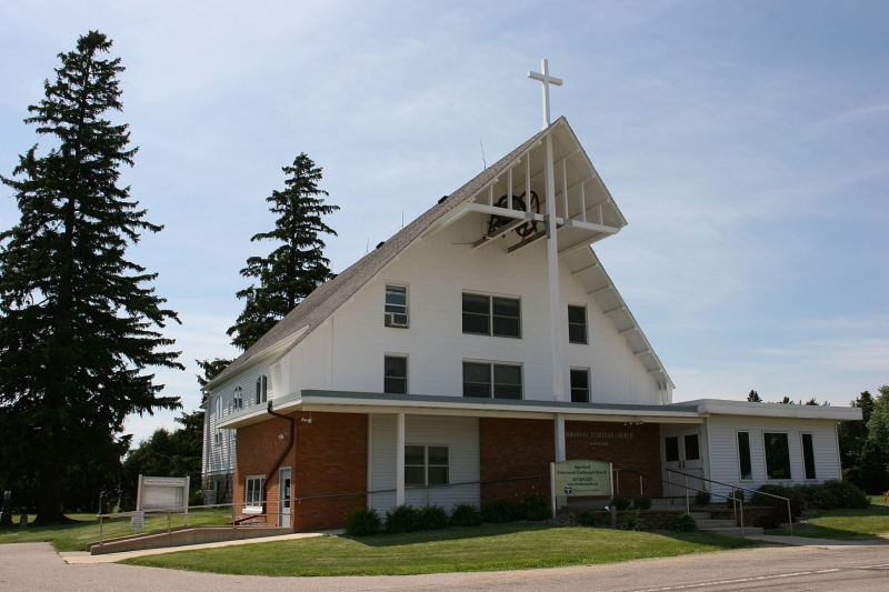 The community's church, Emmanuel Lutheran.