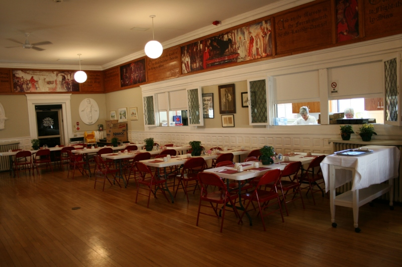 The Guild House dining room and kitchen. Minnesota Prairie Roots file photo.
