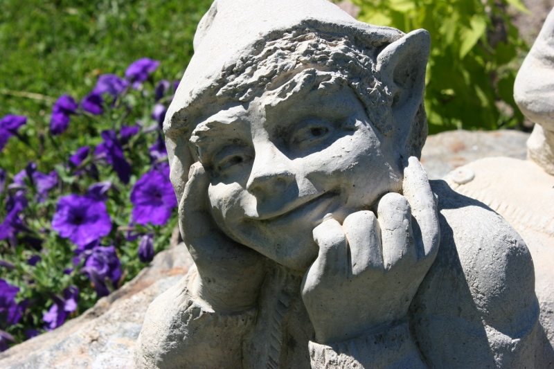 This happy elfin face made me smile.