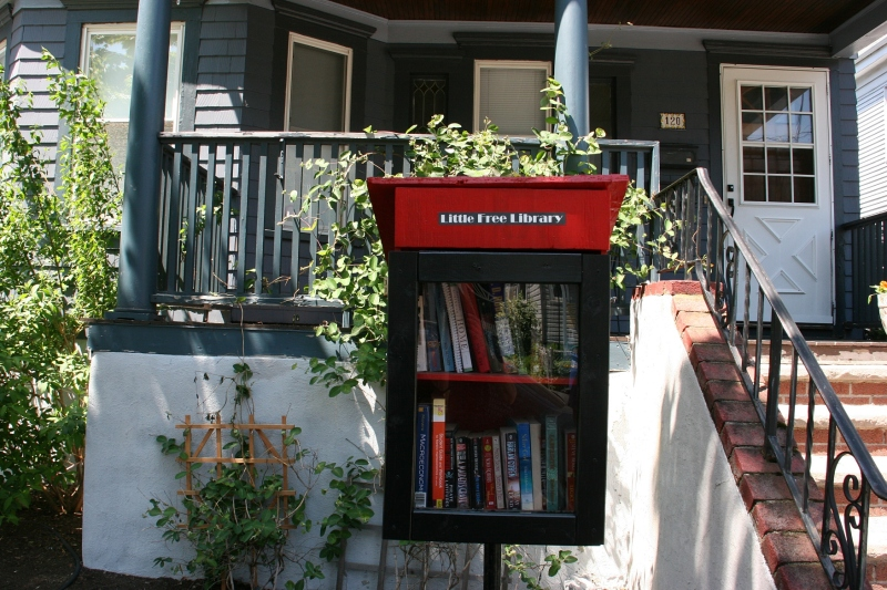 I was delighted to find a Little Free Library near my son's apartment.