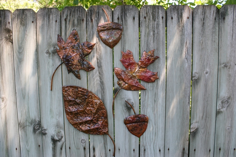 Mike's copper leaf art.