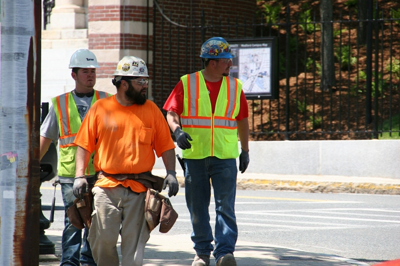 Snapshots, 331 construction workers in Medford, MA.