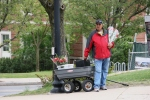 Tufts graduation, 297 vendor sellingflowers
