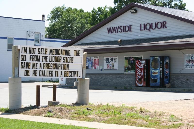 Wayside Liquor sign in Montgomery, 14