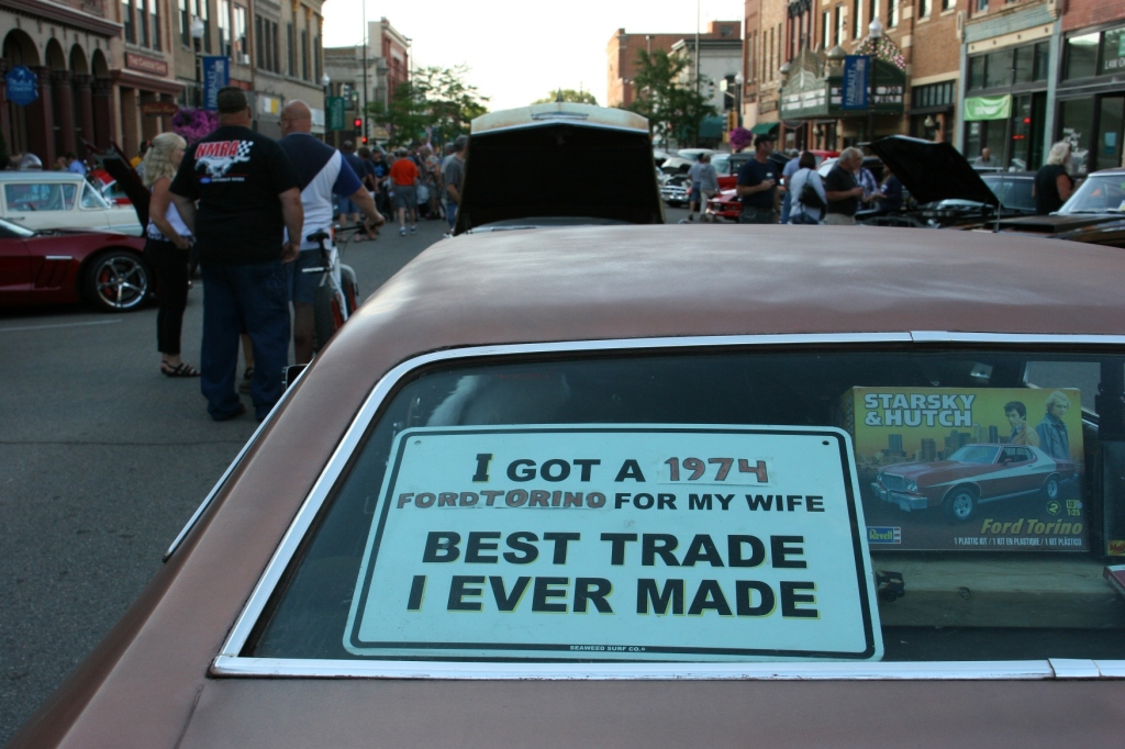I've discovered that car collectors often possess a quirky sense of humor.