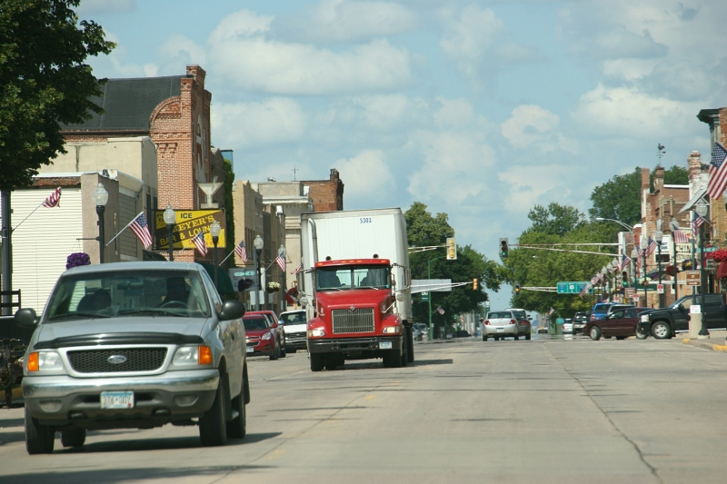 Downtown Sleepy Eye, Minnesota, photographed on July 2.