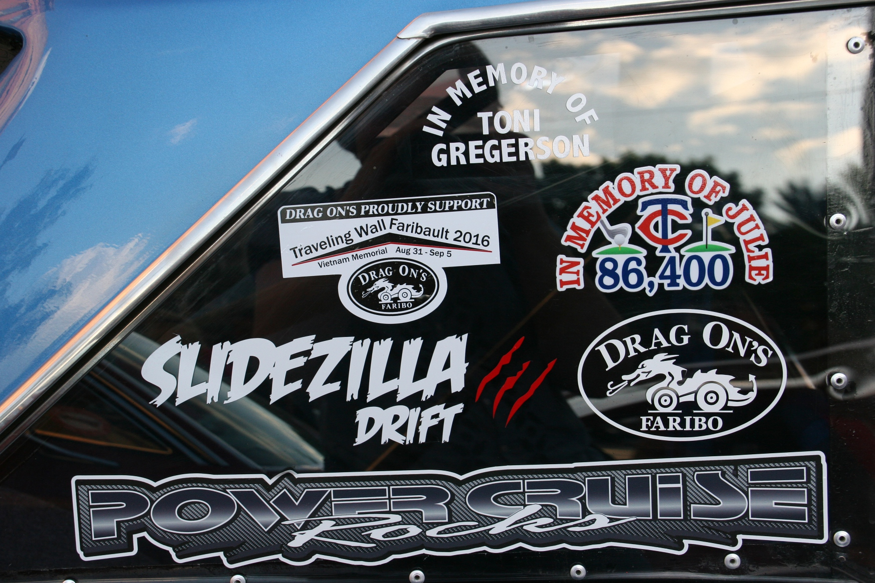 Faribault car cruise 65 multiple stickers minnesota prairie roots