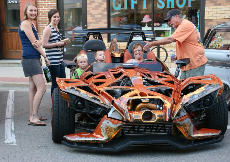 This unique vehicle drew lots of interest at the July 15 Car Cruise Night.