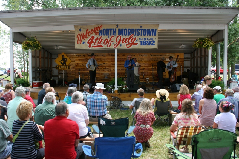The popular bluegrass band, Monroe Crossing, performed twice at North Morristown.