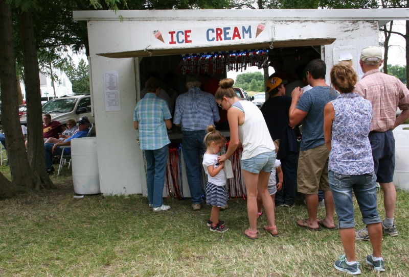 There was always a line for the ice cream.