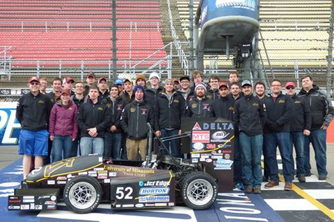 The Gopher Motorsports car and team. Photo from Gopher Motorsports Facebook page.