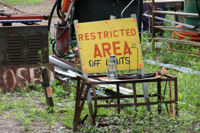 Heed the signs and don't explore the restricted area.