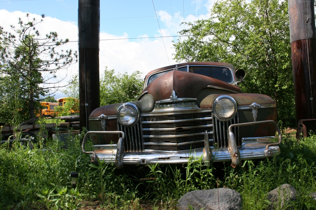 You'll see lots of vintage vehicles scattered throughout the property.